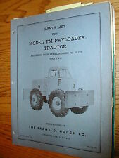 International Hough TM PARTS MANUAL BOOK CATALOG PUSHER TRACTOR GUIDE LIST TM-2