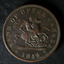 PC-6B4 One Penny 1852 token Bank of Upper Canada Breton 719