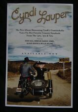 CYNDI LAUPER  Album poster original record store promo 2016