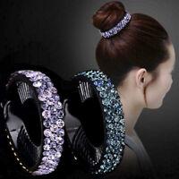 Luxury Bridal Wedding Crystal Diamond Ponytail Hair Clip Comb Diamante Pin