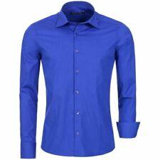 Camicie casual e maglie da uomo blu in misto cotone taglia M