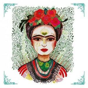 4 cocktail decoupage napkins Frida Kahlo