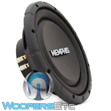 "MEMPHIS SRXS1044 10"" 500W DUAL 4-OHM SHALLOW MOUNT SUBWOOFER THIN SPEAKER NEW"