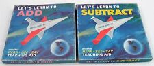 1968 Hear See Say Learn to Add Subtract Math Teaching Records Space Race Rocket