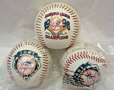 3 NY Yankee Team Baseball Souvenir 2 w/ Stamped Autographed 1996 American League