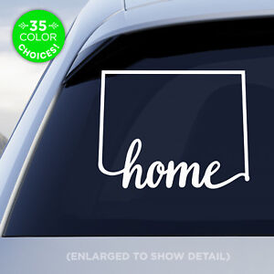 """Colorado State """"Home"""" Decal, CO Vinyl Sticker, Add a heart over your fav city!"""