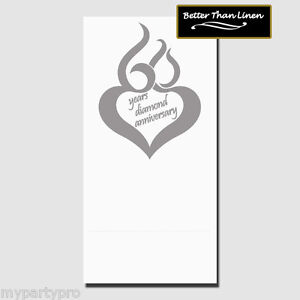 60th ANNIVERSARY MOD DINNER CATER NAPKINS Party Supplies FREE SHIPPING