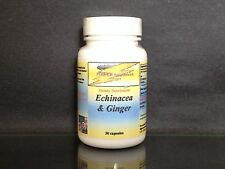 Echinacea + ginger ~resist flu, cold, sore throat, energy, USA Made ~30 tablets