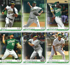 2019 Topps Update Baseball Oakland Athletics Team Set of 9 Cards