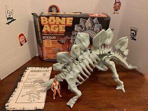 Vintage 1988 Kenner Bone Age Stegus Dinosaur Org In Original Box Near Complete