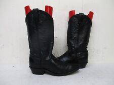 ACME Black Leather Cowboy Boots Womens Size 6 M Style 740J