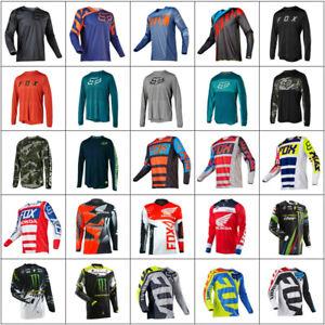Men's FOX Cycling Jersey Motocross/MX/ATV/BMX/MTB Dirt Long Sleeve Racing Tops