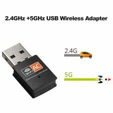 Jedel Nano Dual-Band Wireless USB Adapter 600M 2.4Ghz/5Ghz Mini Network Dongle