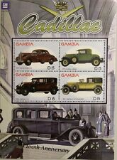 GAMBIA 2003 Klb 4962-65 Block 636 100 Ann Cadillac Automobile Vintage Car Autos
