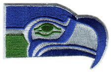 "SEATTLE SEAHAWKS NFL FOOTBALL 3.25"" DIECUT TEAM LOGO PATCH"