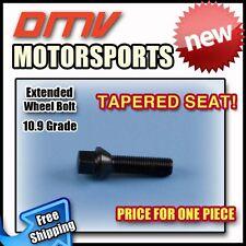 Black Tapered Longer Extended Wheel Bolts Lugs   MINI   14x1.25   45MM Thread