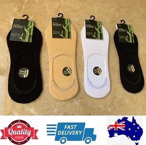 4 Pairs Mens Premium 92% Bamboo Socks Footlet Socklet Special,size 6-11,AU Stock