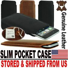 # SLIM PREMIUM GENUINE LEATHER POCKET CASE COVER SLEEVE POUCH FOR MOBILE PHONES