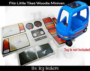 The Toy Restore Replacement Stickers fits Vintage Little Tikes Wood Minivan Van