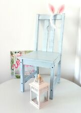 Child's wooden chair blue Vintage Antique Shabby Chic