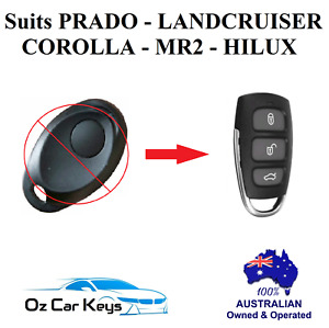 SUITS TOYOTA HILUX COROLLA PRADO LANDCRUISER MR2 REMOTE FOB NO KEY 1998-2005