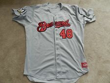 2015 Brevard County Manatees Game Used Road Jersey #48 Jorge Lopez Brewers