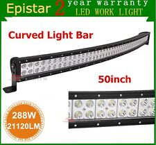 "50"" 288W Led Light Bar Curved Epistar Combo Outdoor Driving Off-road Lamp Truck"