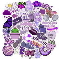 50 VSCO Purple Color Stickers Skateboard Laptop Journal Luggage #1 US SELLER
