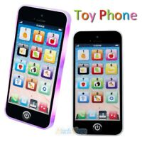 Kids Music Toy Cell Phone Educational English Learning Touch Screen w/ LED Light