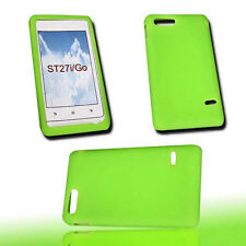 Silikon TPU Cover Handy Case Hülle Schale Kappe in Neon Grün für Sony Xperia Go