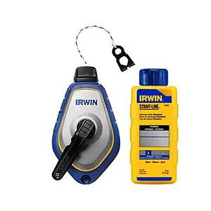Irwin Speedline Pro Chalk Line Reel with Blue Chalk