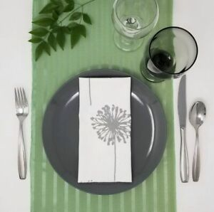 Mint Green Table Runner - Satin Stripe