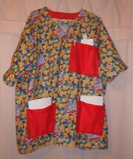Double Bubble Bubblegum Scrubs Top with 3 Red Pockets for Size 3X  FSMTP50