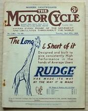 The MOTOR CYCLE Magazine 27 Apr 1939 Lands End Trial Results LIGHTWEIGHTS