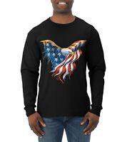 American Flag Eagle Mens Long Sleeve T-Shirt