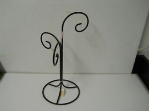 Large Black Metal 3 Tier Scroll Jewelry Ornament Stand Holder Display Retail