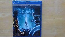 Disney TRON LEGACY Blu-Ray + Blu-Ray 3D + DVD + Digital HD 2016 New Sealed