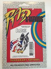 Vintage (2) POPEYE Eagle USA FLAG Rad A-Tattoos Temporary Tattoos Don Ling