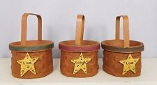 Set of 3 Live, Laugh, Love small Baskets - New resin by Blossom Bucket #81082