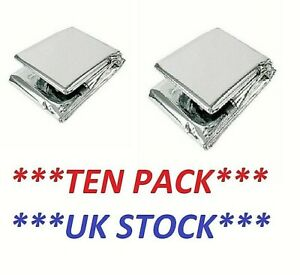 10 X Waterproof EMERGENCY FOIL BLANKET Thermal Camping First Aid Survival Rescue