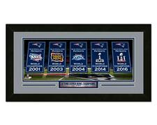 New England Patriots 5x Super Bowl Banner Champions mini framed photo