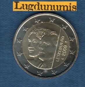 2 euro Commémo Luxembourg 2009 Accession Trône Grande-Duchesse Charlotte