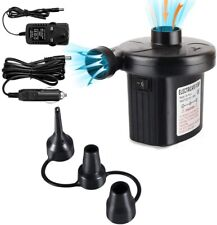 Electric Air Pump Two-way Air Pump with 3 Nozzles, 220V AC/12V 2 in 1 Portable