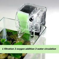 2W External Aquarium Filter Box 3 in 1 Fish Tank Water Oxygen Circulation Pump