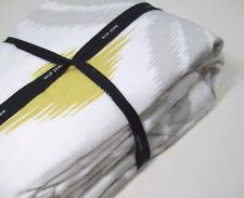 West Elm Multi Colors Belgian Flax Linen Ikat Fan Full Queen Duvet Cover New