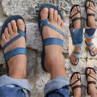 Women Sandals Flats PU Leather Slipper Mules Slides Flip Flops Rome Style Shoes