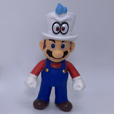 """Super Mario Bros. Odyssey Mario with Cappy on the Head Action Figure Toy 5.5"""""""
