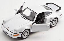 BLITZ VERSAND Porsche 964 Turbo weiss / white  Welly Modell Auto 1:34 NEU & OVP