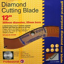 "12""  305MM 20MM BORE PROFESSIONAL UNIVERSAL DIAMOND CUTTING GRINDER DISC"