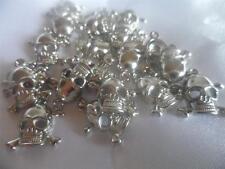 100 Ciondoli Cranio di Acrilico/Perline Ciondoli nichel colore per gioielli BULK